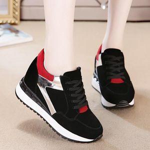 Womens Vulcanize Sneakers Shoes Side Zipper Autumn 2021 Spring Female Casual Shoes Platform Wedge Rivet Sneakersl