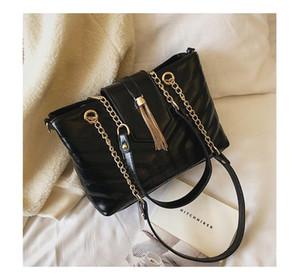 Designer- 12 Tassel bag Jane Tote chain package new Korean version Single Shoulder Satchel large capacity general female bag shishang 12