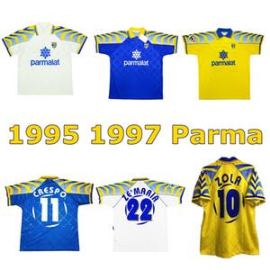 1995 1997 PARMA Retro Soccer Jersey 95 96 97 PARMA Buffon Zola Crespo Stoichkov Chiesa Cannavaro Cannavaro Vintage Football Shirt