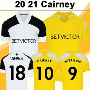 20 21 Caierney Mitrovic Anguissa Mens Soccer Jerseys Lemina Kebano Decordova Kongolo Home White Olet Yellow Football Рубашка с коротким рукавом