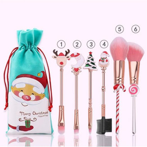 Christmas Makeup Tool Suit Elk Beginner Set Gift Pink Beauty Makeup Brush Set Personalized Christmas Gifts Christmas Ornaments OWC3019