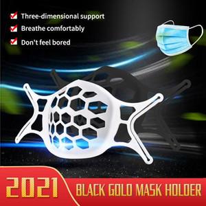 Máscara 3D más nueva Protección de soporte Soporte de silicona Mascarilla Cara Interior Mejora de la respiración Soporte de máscara suavemente fresca Lla45