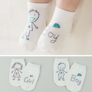New Arrival Baby Socks Boy Girl Senteces Cute Cartoon Socks For Newborn Infants Toddlers Non-slip Soft Cotton Socks Wholesale