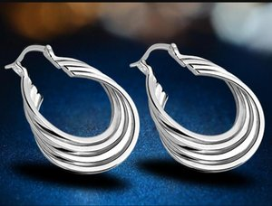Wholesale - lowest price Christmas Silver Fashion Earrings E157 ps1882