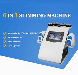 6in1 RF diodo Lipo Laser emagrecimento profissional da pele aperto Aspiração ultra-som cavitação redução de gordura celulite remoção máquina