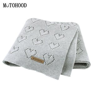 MOTOHOOD Baby Blankets Knitted Newborn Swaddle Wrap Soft Toddler Sofa Crib Bedding Quilt Winter Autumn Baby Stroller Blanket 201022