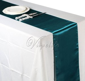 Runner Teal Blue Satin Table Runners 12 108 Wedding Party Banquet Home Decorations 30Cm X 275Cm Czs5C Atnzk