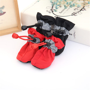 4Pcs set Pet Dogs Winter Shoes Rain Snow Waterproof Booties Socks Rubber -slip Shoes For Small Puppies Footwear Cachorro