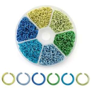 6mm Colorful Aluminum Open Jump Rings Split Rings Connectors For Necklace Bracelet Diy Jewelry Making Accessories 108 jllclo
