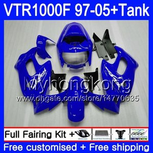 +Tank For HONDA SuperHawk VTR 1000 F 1000F VTR1000 F Bodys 56HM.140 VTR1000F 97 02 Factory blue 03 04 05 1997 2002 2003 2004 2005 Fairings