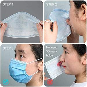 İç Maske Şeffaf Burun Parantez Destek Yüz Maskeleri Pad PP Parantez Ruj 3D Çerçeve Maskeler Koruma Maske 5pcs / FWE2461 paketi