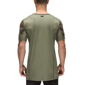 Muscle Boy Fitness Brothers Camouflage Short Sleeve Men's New Style Summer Breathable Quick-Dry Running Sports Fitting T-shirt