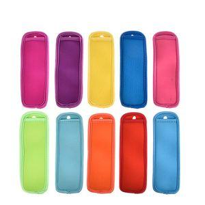 Antifreezing Picolicle Bags Congelador Popsicle Titulares Reutilizável Neoprene Isolamento Gelo Pop Mangas Saco para Crianças Verão Cozinha Demasiado 104 J2