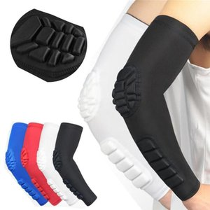 Hex Padded Arm Sleeve Anti Slip Elbow Pads for Football Volleyball Baseball Protection Crashproof Sport Safety Honeycomb Sleeves