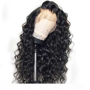 Brazilian Remy Hair Pre Plucked Curly Lace Front Wigs Human Hair 180% Density Glueless Loose Curly Human Hair Full Lace Wigs for Women