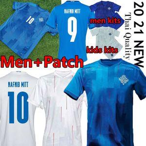 Hommes + Kids Kits Islande Jersey de football 2020 2021 Équipe nationale G Sigurdsson Sigthórson R Sigurdsson Finnbogason Chemises de football Enformiers Patch
