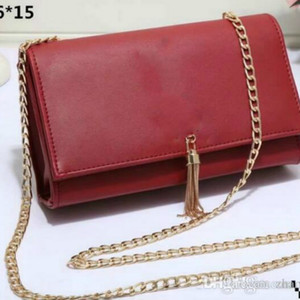 Hot New Top Quality Shoulder Bags Fashion Brand Female Chain Tassel Solid Handbags PU Leather Flap Totes Crossbody Bags