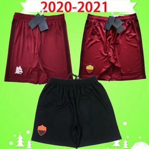 Rome 20 21 Roma Soccer Shorts الكبار رجل 2020 2021 منزل أحمر بعيدا سروال كرة القدم الثالث Zaniolo El Shaarawy Dzeko Kolarov Cristante Kluivert