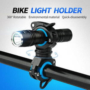 360 Degree Rotation Bicycle Light Bracket Bike Torch Mount LED Light Holder Clamp Headlight Stand Quick Release Mount