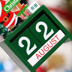 Ahşap Noel Advent Takvimler Noel Süslemeleri Ev Noel Süs Yaratıcı Çocuk Hediyeler için Parti Favor EWA1977