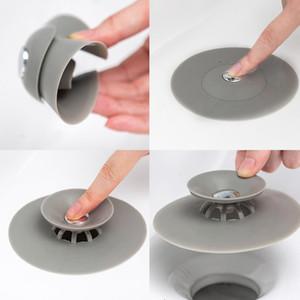 2020 Silicone Floor Drain Hair Stopper Bathtub Plug Bathroom Kitchen Basin Stopper Sink Strainer Basin Water Stopper