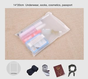 Матовая матовое путешествие хранения пользовательских размеров пакеты запечатанные водонепроницаемые прозрачные сумки для одежды1