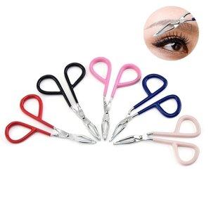Hot Sale Stainless Steel Eyebrow Tweezers Elbow Eyebrow Pliers Tweezers Colorful Hair Removal Clip Beauty Makeup Tools