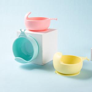Arts de la table pour enfants Chute résistant silicone Snack Catcher bébé nourriture solide bol silicone Sucker Bowl C1108