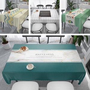 PVC Material Waterproof Table Cover Room Decoration Dining table Cloth Oilproof Hot Selling manteles de mesa rectangular T4171