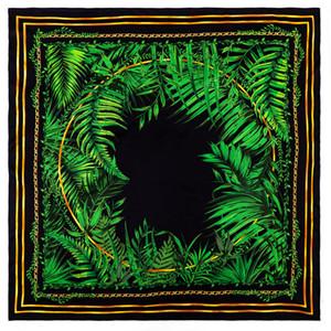 Doppelseitige handgewalzte rande seide quadrat schal frauen 90 90 satin schals vintage kopfausschnitt schals schal weiblich foulard femme