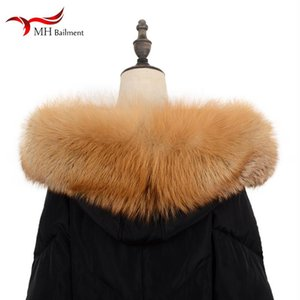 100% Real Fur Scarf Coat Collar Furry Warm Scarf Ladies Shawl Hot Sale Winter Fashion Raccoon Collar Women