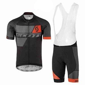 2020 Uci 2020 de Scott equipo de ciclismo Jersey 9d Gel Pad bicicletas Pantalones cortos Ropa para hombre Ciclismo Summer Tour bicicleta Maillot Culote sistema de la ropa