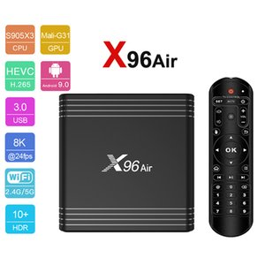 Android TV Box X96 Air Android 9 Amlogic S905x3 4GB64GB Quadcore Suppot 4K 8K 2.4G WIFI Youtube 4K Smart Tv Box.