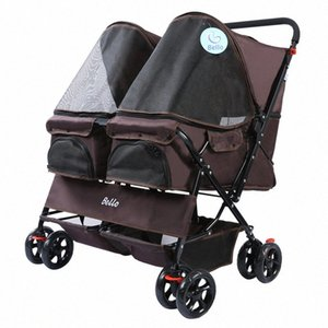 Pet Trolley Teddy Viaggiare Trolley Cat Dog Small Dog Pet Car luce uscente Kennel uscire Luce Passeggino 6m1x #