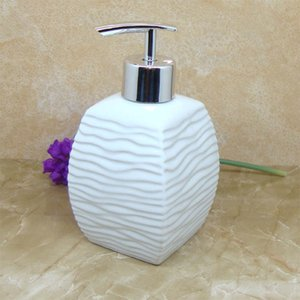 NEWYEARNEW Ceramic Liquid Soap Dispensers Emulsion Bottles Latex Bathroom Accessories Set Wedding Gift C0123