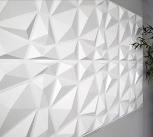 Papel pintado Decorativo 3D Paneles de pared Diamante Diseño 12 Azulejos 32 pies cuadrados (fibra vegetal) Wallstickers