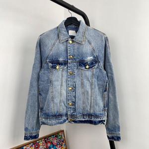 VENDA QUENTE 20SS FG moda high-end Denim Jacket clássico Lavados Mulheres Homens Vintage Casual Exteriores High Street Denim Jackets