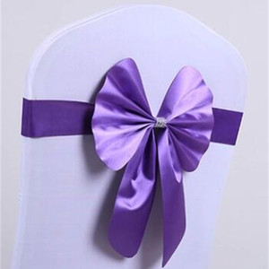 Spandex Wedding Chair Sashes Wholesale Bow Bowknot Chiffon Willow Elastic Cover Organza Chairs Buckle Pink Back Ribbon Bands Belt