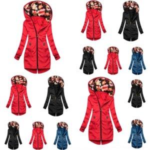 ZAO Kış kadın Kadın Kadın Rahat Ceket Kuzey FA Kadın Ceket Kuzu Kapşonlu Giyim Kürk Bir Palto Kadın Moda Kürk Ceket Büyük Boy