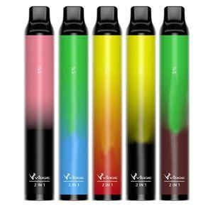 Autentico Vidge 2in1 Kit dispositivo vape monouso 2000Puffs Pod portatile 950mAh batteria vape 6ml kit penna vuota vs sbuffo Plus XXL Air Bar LUX