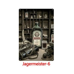 1pcs Jagermeister Wine Metal Tin Signs Painting Wall Stickers Art Decoration Iron Painting Plaque Wall Decor Art Pictures 20*30cm