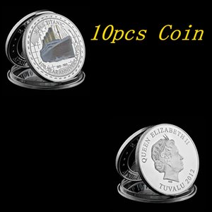 10pcs 1912 Titanic Silver Plated Coin 100 Year Anniversary Memory Of Rms Victims Commemorative Titanic Collection Coin