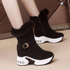 Women Winter Warm Fur Sneakers Platform Snow Boots Women 2020 Ankle Boots Female Causal Shoes Ankle for