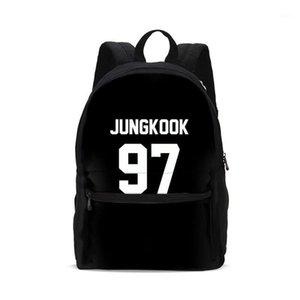 2020 crianças saco de escola bookbag jungkook letra impressão escola crianças mochila escola mochila moda meninas bolsa de ombro crianças saco enfant1