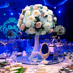 Customize 45cm artificial rose wedding table decor flower ball centerpieces backdrop decor party table floral road lead flowers