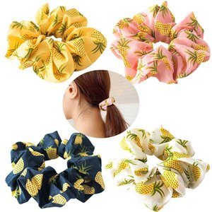 4PCS 2021 New Woman Girls Hair Scrunchy Fashion Pineapple Elastic Hair Tie Ponytail Holder Bands Accessories Headwear