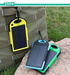 스마트 폰 패드 태블릿 카메라 모바일 전원 은행 듀얼 USB 범용 5000MAH 태양 광 충전기 방수 태양 전지 패널 배터리 충전기