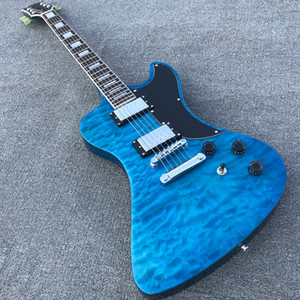 Custom Shop Blue Quilted Maple RD Electric Guitar Chrome hardware Mahogany body guitarra Wholesale & Retail, All color are Available