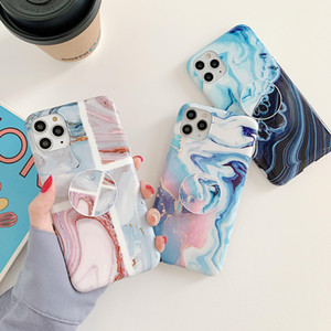 Phone Case Coral Pattern Marble for iPhone 11 Pro XS Max XR 7 8 SE 2020 phone cases With Bracket