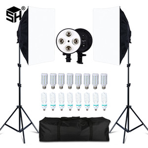 Студия Kits Photo Studio 8 LED 20W Softbox Kit Photographic Lighting Kit камеры Фото аксессуары 2 Light Stand